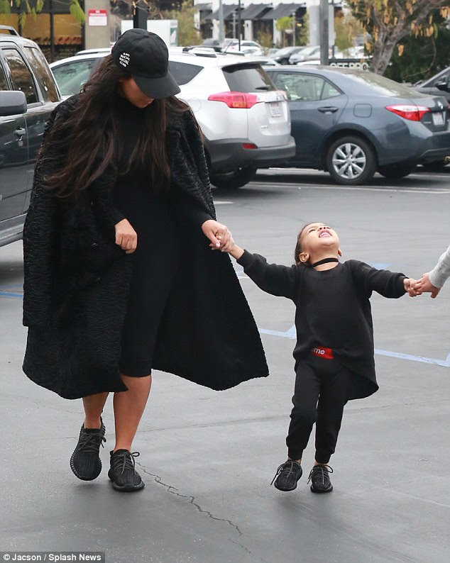 Yes! North showed off she's picked up her mother's sense of style as she cut a cute and very giddy figure on her outing