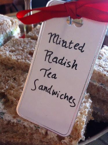 Minted Radish Tea Sandwiches