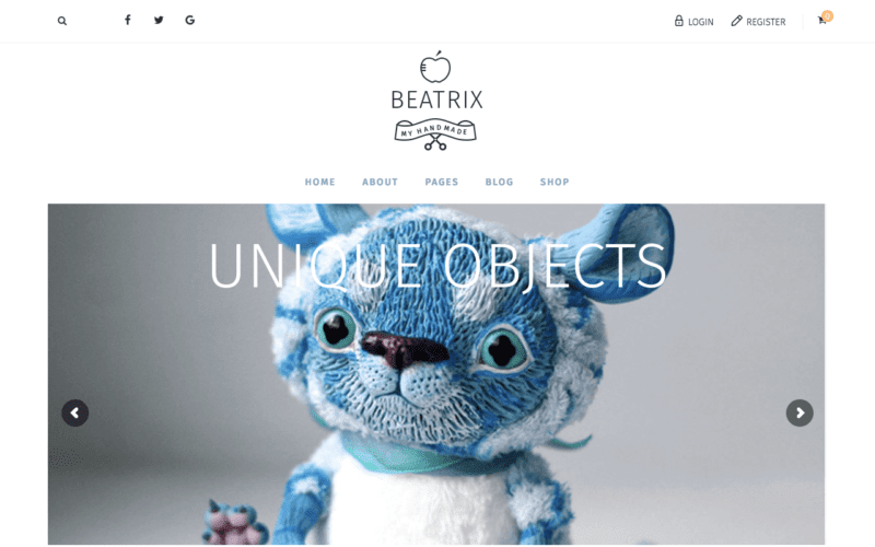 Beatrix eCommerce WP theme