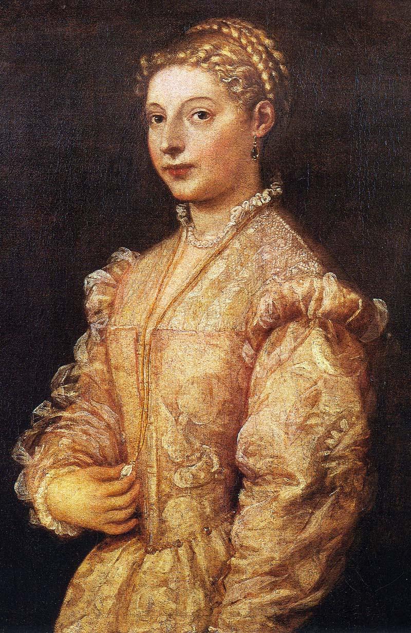 Titziano Vecellio (Titian) Portrait of a Girl (Lavinia)