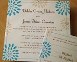 IN BLOOM WEDDING INVITATION