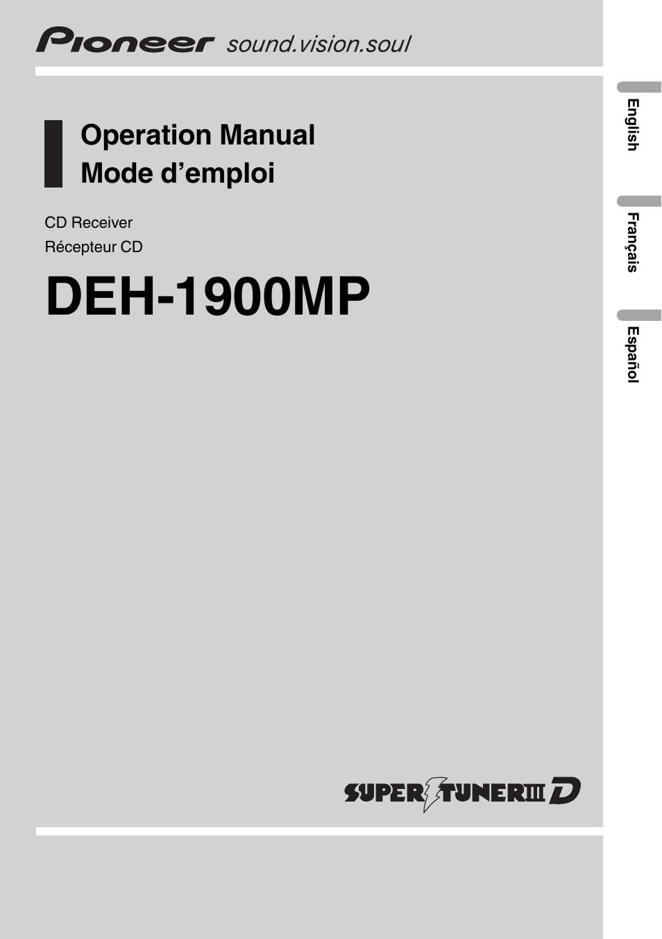 Pioneer Deh 1900mp Wiring Diagram