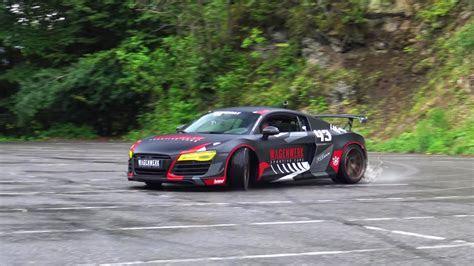 Mental Audi R8 Bi Turbo Performs Donuts and Drifting   autoevolution