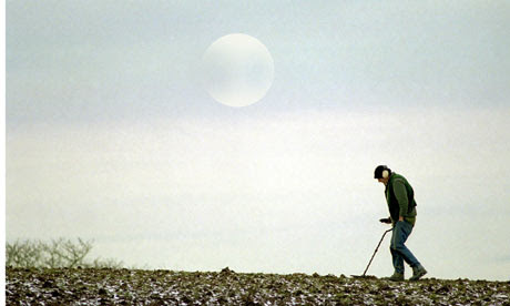 A man out with his metal detector