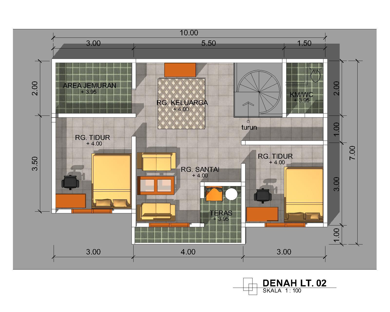 Denah Sketsa Rumah Minimalis 9 Desain Rumah Minimalis