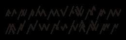 Huruf-huruf dasar dalam aksara Rejang.
