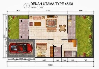desain rumah minimalis ukuran tanah 10x20