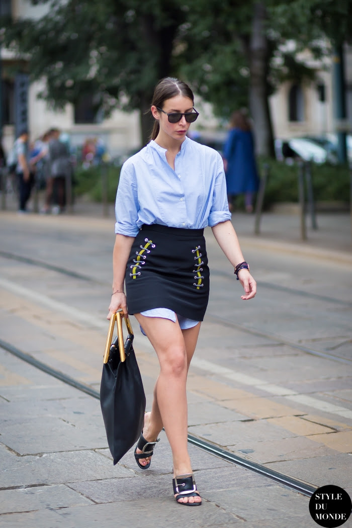 Irina Lakicevic Street Style Street Fashion Streetsnaps by STYLEDUMONDE Street Style Fashion Blog