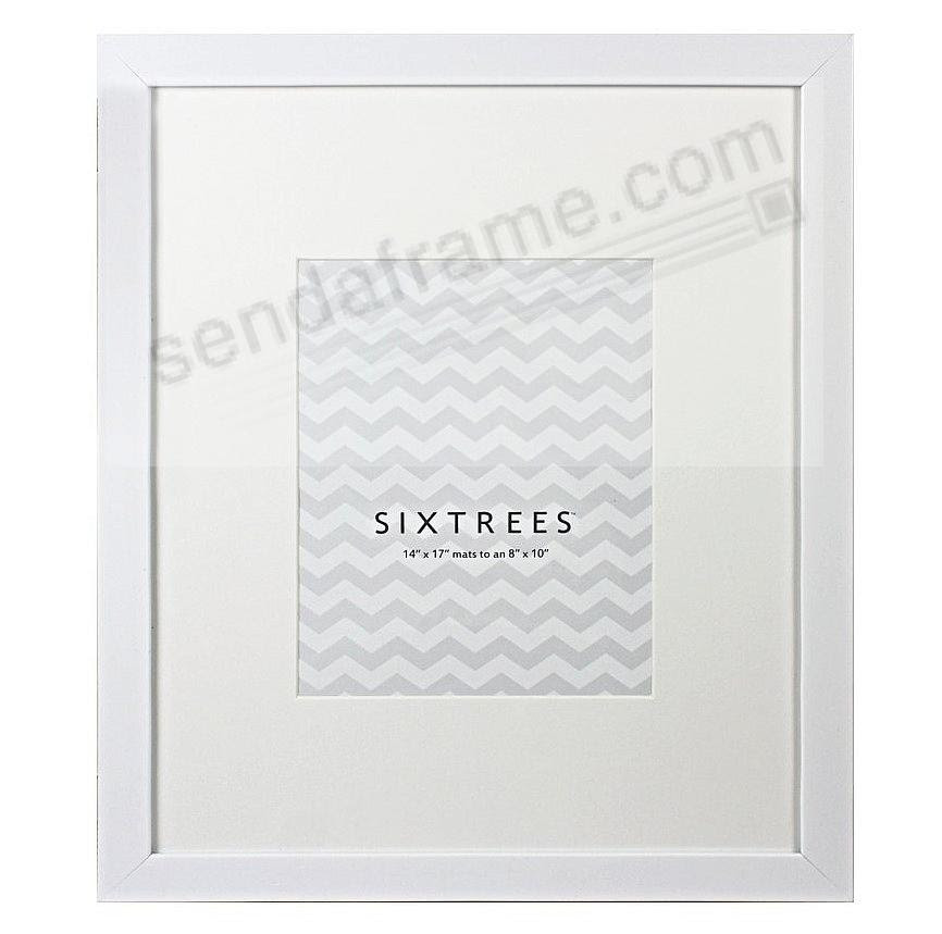 White White Matted 14x178x10 Frame By Sixtrees Picture Frames