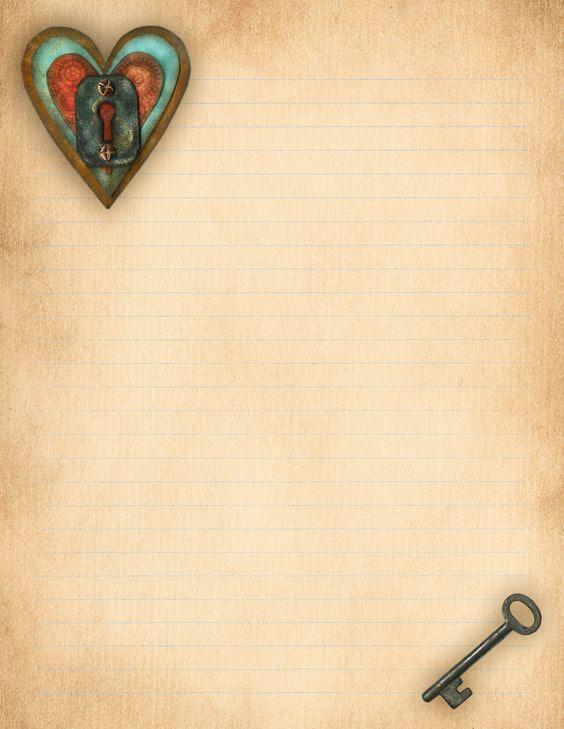 Aged Love Letter Paper. Free printable! #ldr | LDR | Pinterest ...