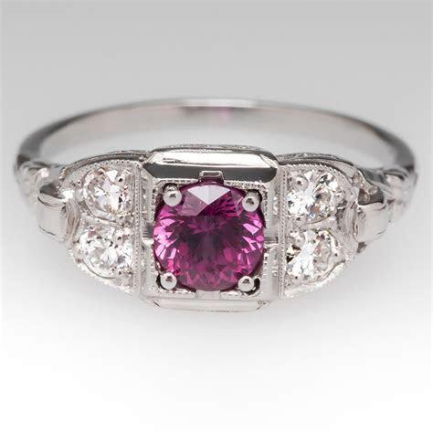 EraGem's colorful vintage engagement rings, because