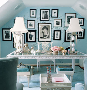 dominomag- eclectic blue bedroom eclectic bedroom