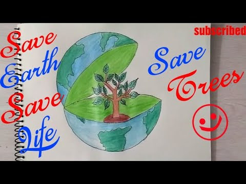 Save Earth Drawing Pictures At Getdrawingscom Free For Personal