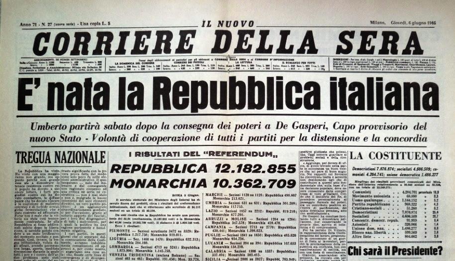 nascita repubblica italiana