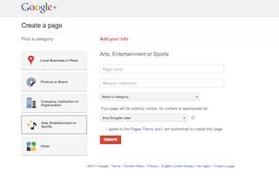 Google+ Screen Shot image from Bobby Owsinski's Music 3.0 blog