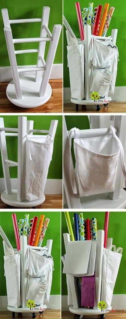 Wrapping Paper Holder | 50 Clever DIY Ways To Organize Your Entire Life @Elizabeth Killian