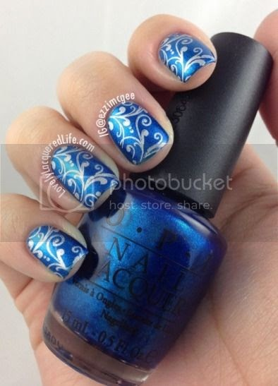 lovely lacquered life blue nails for autism opi