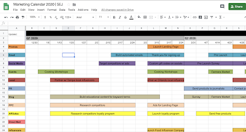 2020 Calendar Template Excel Yearly