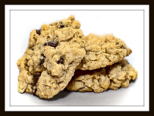 vegan & gluten free chocolate chip oatmeal nut cookies