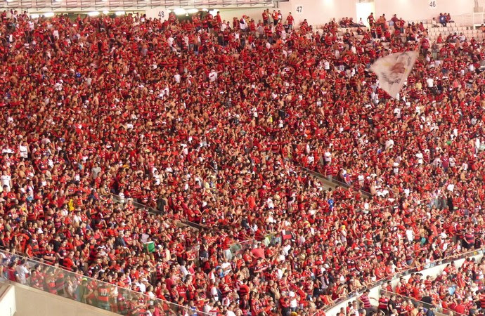 Torcida Flamengo x Atlético-MG (Foto: Cahê Mota)