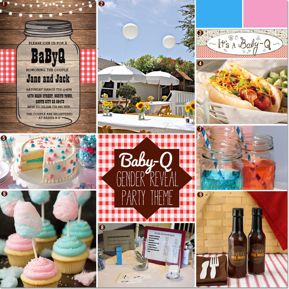 How To Plan A Gender Reveal Baby Q Bbq Baby Shower