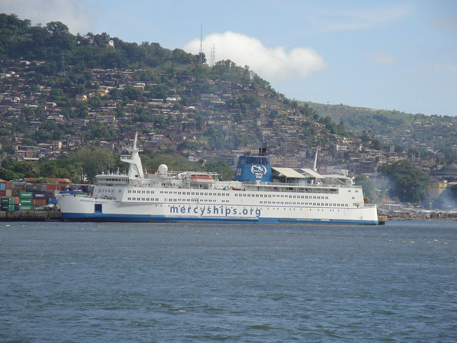 The Africa Mercy and Freetown