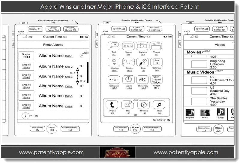 1.  D'Apple remporte un autre iPhone Major & iOS interface des brevets