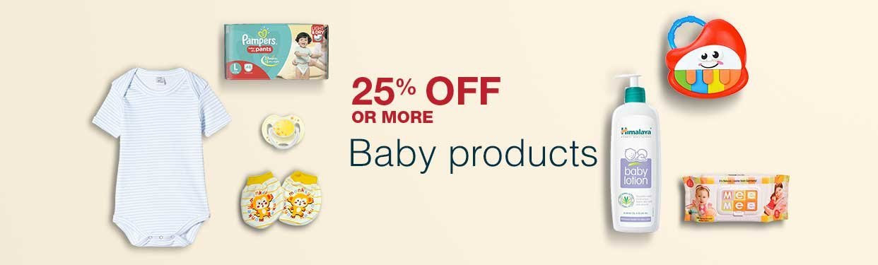 25% off or more baby products