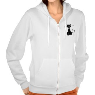 Grunge Evil Black Cat Female Hoodie