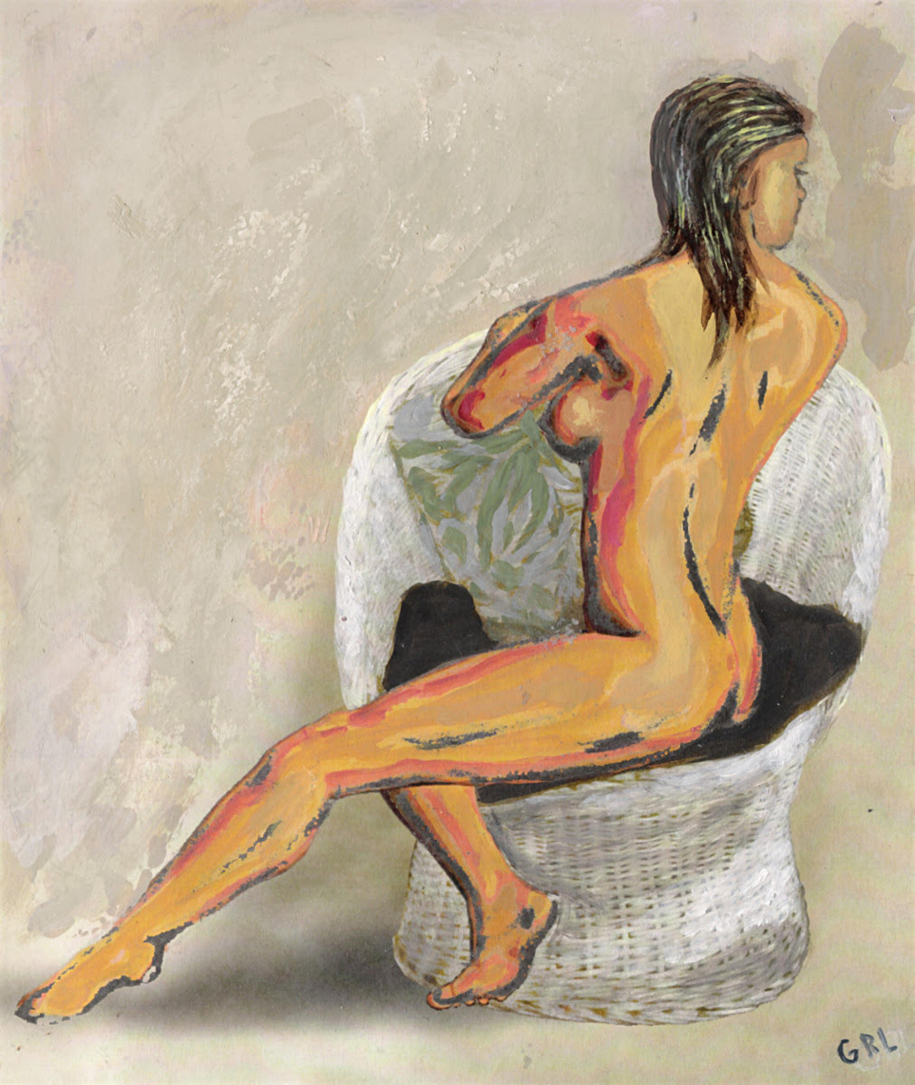 Fine Art Nude Paintings Female Contemporary Nude, Seated. Original multimedia fine art work, paintings. Original fine art sketches start ~ $50 to $100, paintings at ~ $100 up; $20 to $30 small, medium-size, prints. Free downloads. GrlFineArt. Fine art work, fine art decor, fineart; landscapes, seascapes, boats, figures, nudes, figurative art, flowers, still life, digital abstracts. Multimedia classical traditional modern acrylic oil painting paintings prints.