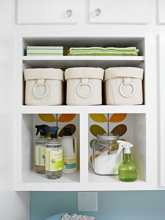 Laundry room organization + sneak peek of shelves   Four ...