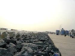 A view of the Beach at Victoria Island.