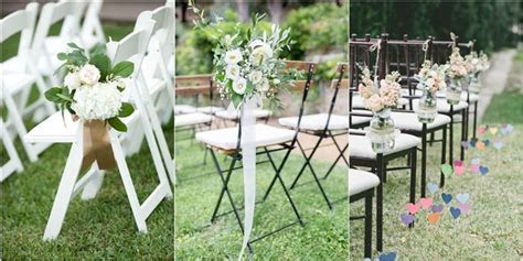 20 Must have Wedding Chair Decorations for Ceremony