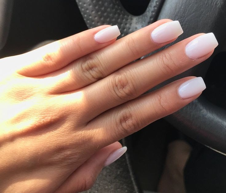 Short Tapered Square Ombre Nails - Nail and Manicure Trends