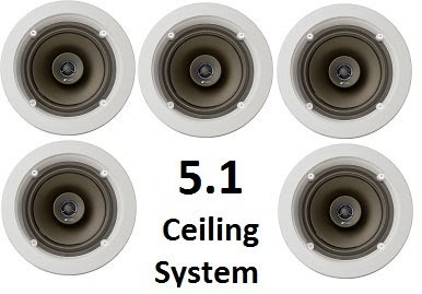niles 5 1 ceiling mount surround sound system set of five cm610 2 way coaxial 6 inch. Black Bedroom Furniture Sets. Home Design Ideas