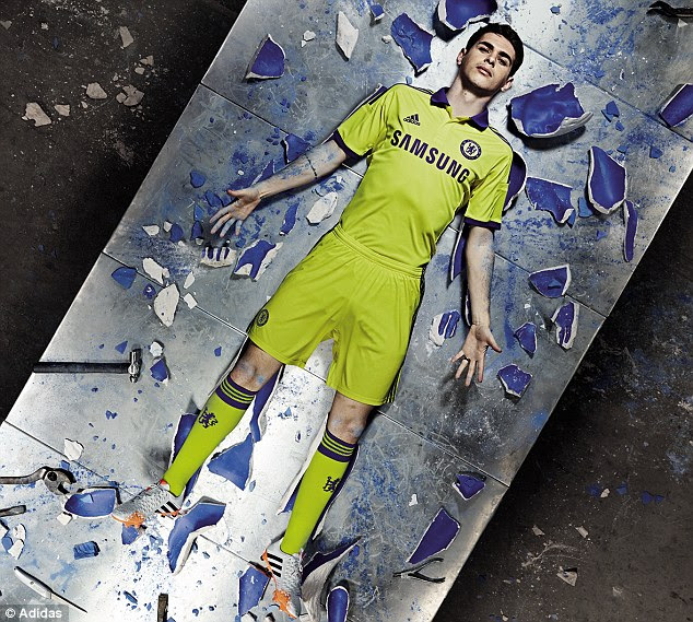 Yellow peril: Brazilian midfielder Oscar should feel right at home in Chelsea's new away kit