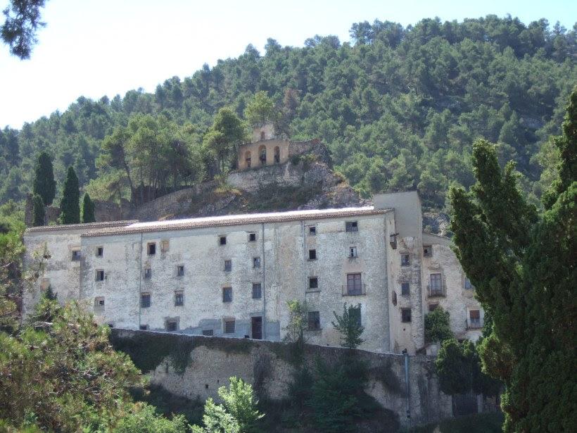 Vista general del convento de Agres