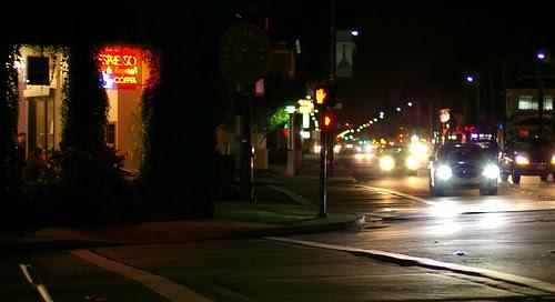 Night Street Scene with pentax fa 50 f/1.4
