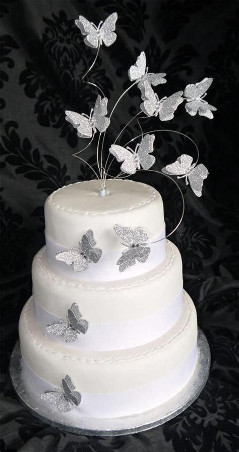 Handmade Flutter Butterfly Glitter Cake Topper   Wedding