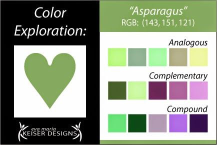 Eva Maria Keiser Designs: Explore Color: Asparagus