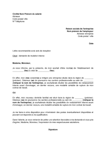 Application Letter Sample: Modele De Lettre De Motivation Pour Mutation