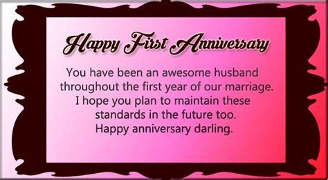 Happy first wedding anniversary message to my Husband
