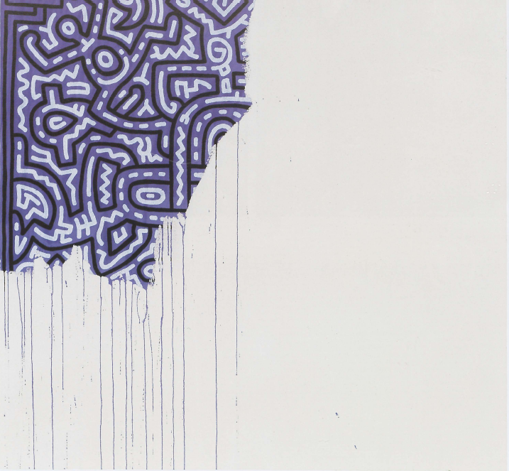 endpiece:  Keith Haring (1958-1990). Unfinished painting, 1989.