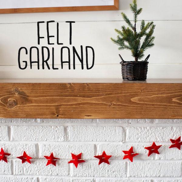 easy no sew felt christmas garland kids craft
