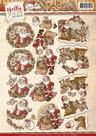 CD10748 Knipvel Santa Holly Jolly Christmas Yvonne Creations