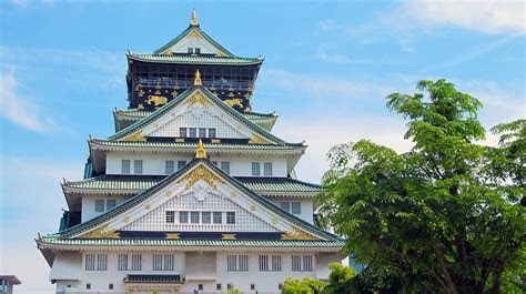 Free photo: Osaka Castle, Japan, Five, Osaka   Free Image