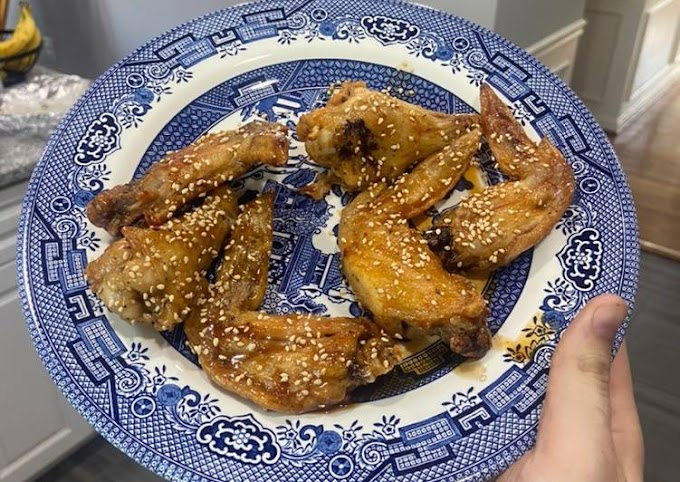 Steps to Prepare Ultimate Air Fried Chicken Wings (Honey Sesame and Korean Hot and Honey)