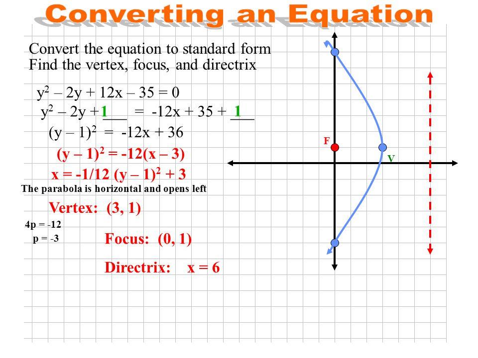 standard form of parabola equation  cloudshareinfo