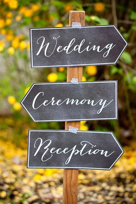 21  Awesome Free Printable Wedding Signs   All Free