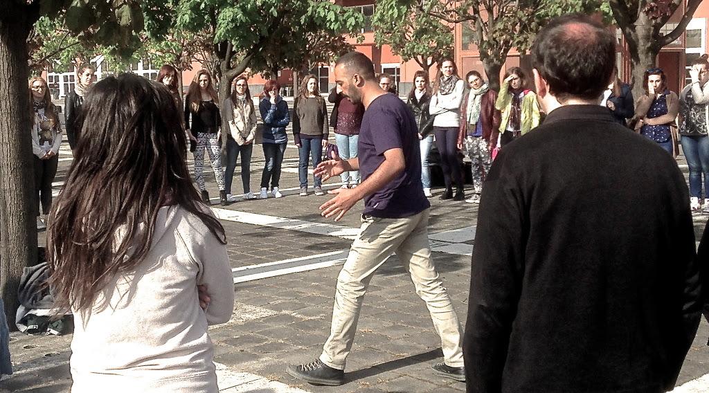Momenti del workshop nel campus dell'università degli studi di Milano-Bicocca (foto di Silvia Hassouna)